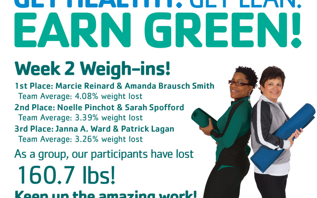 Week 2 Weigh-ins: Get Healthy Challenge!