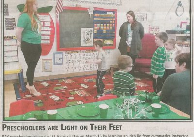 Preschoolers are Light on their Feet