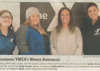 Bloomsburg YMCA's Winner Announced