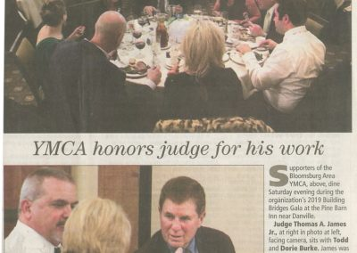 YMCA honors judge for his Work